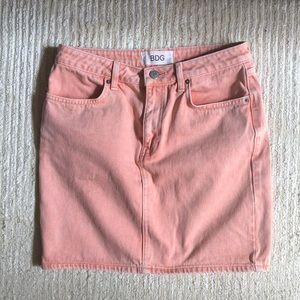 Urban outfitters pink denim skirt